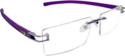 valor dinero Rimless Rectangle Frame