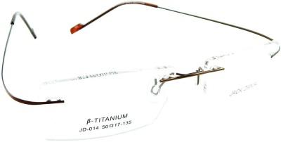 B-Titanium Rimless Rectangle Frame
