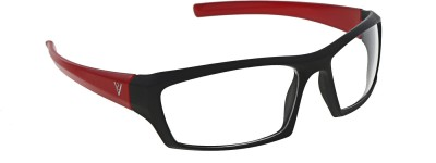 Vast NEW_NT_BLACK_RED_CLEAR Sports Sunglasses(Clear)