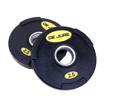 De Jure Fitness Imported Stainless Steel Ring2.5 Kgs pair total 5 Kgs Weight Plate