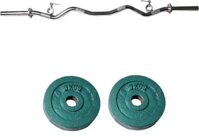 Royal 3kg_2pc_Casting_green_plates+3ft_1pc_Curve_rod_withlock Weight Plate