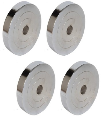 Krazy Fitness 8 Kg (2 Kg Each) Steel Chrome Weight Plate
