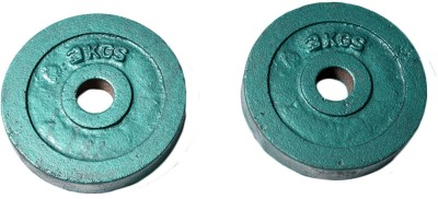 Royal 3kg_2pc_Casting_green_For_22mm_Rod Weight Plate