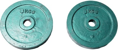 Royal 8kg_2pc_Casting_green_plates_For_22mm_Rod Weight Plate