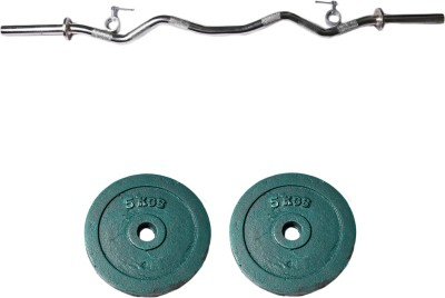 Royal 5kg_2pc_Casting_green_plates+3ft_1pc_Curve_rod_withlock Weight Plate