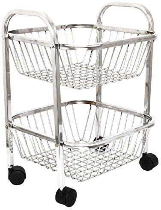 Rumed Solutions Stainless Steel Fruit & Vegetable Basket(White)