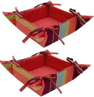 Elan 4H02BB-MULTI DOBBY Cotton Fruit & Vegetable Basket