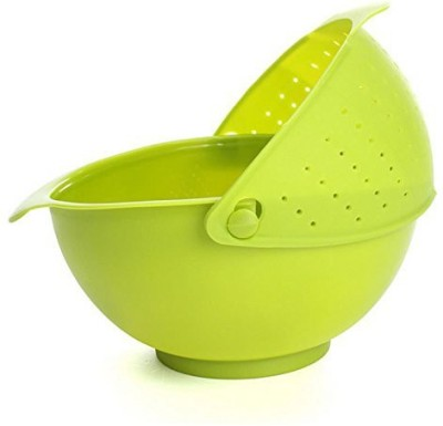 Inventure Retail Plastic Fruit & Vegetable Basket(Green)