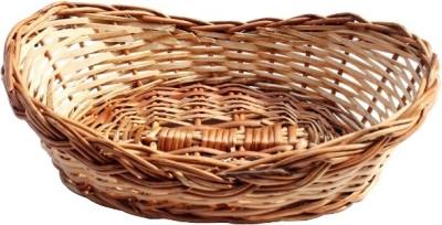 SHOPPINGKART24 Bamboo Fruit & Vegetable Basket(Brown)