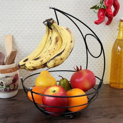 Disha Marketing Kangaroo Carbon Steel Fruit & Vegetable Basket(Black)