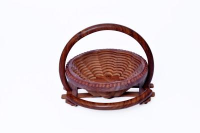 Woodenclave Floret- A Fruit Basket Wooden Fruit & Vegetable Basket