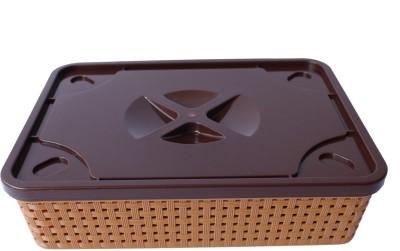 Grooto Container (Golden Brown) Plastic Fruit & Vegetable Basket