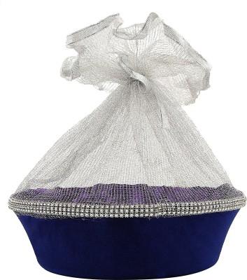 RG Handicrafts Studded Plastic Fruit & Vegetable Basket
