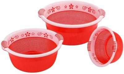 Sukhson India Plastic Fruit & Vegetable Basket(Red)