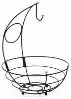 Eoan International Steel Fruit & Vegetable Basket(Black)