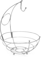 Eoan International Silver Plated Fruit & Vegetable Basket(Silver)