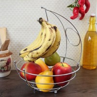Eoan International Iron Fruit & Vegetable Basket(Silver)