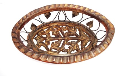 Woodpedlar Iron, Wooden Fruit & Vegetable Basket(Brown)