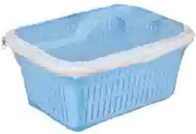 Bagathon India Multipurpose Plastic Fruit Basket With Cover Plastic Fruit & Vegetable Basket(Blue)
