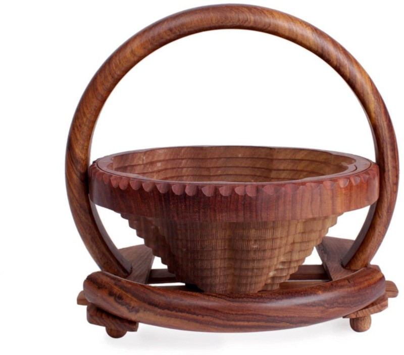 Store Indya Wooden Fruit & Vegetable Basket(Brown)