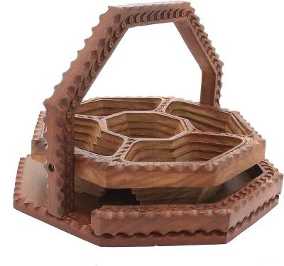 Dolphy Unique Wooden Fruit & Vegetable Basket
