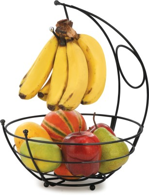 Eoan International Iron Fruit & Vegetable Basket(Black)