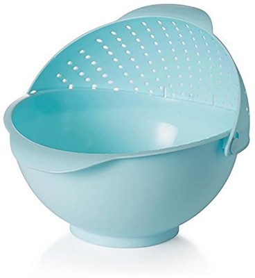 Inventure Retail Plastic Fruit & Vegetable Basket(Blue)