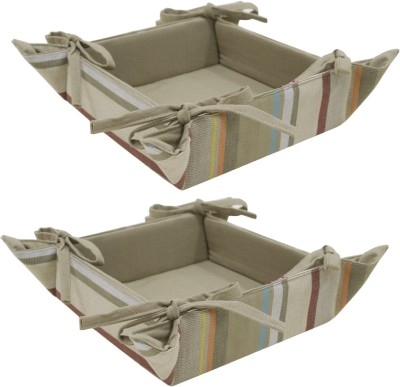Elan 4h06bb-2vintage Stripe Cotton Fruit & Vegetable Basket