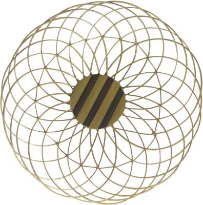 swadesibuyzzar Basket Circle Shape 25x25x8.5 cm Wooden Fruit & Vegetable Basket