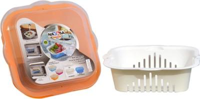 Nayasa Plastic Fruit & Vegetable Basket(White)