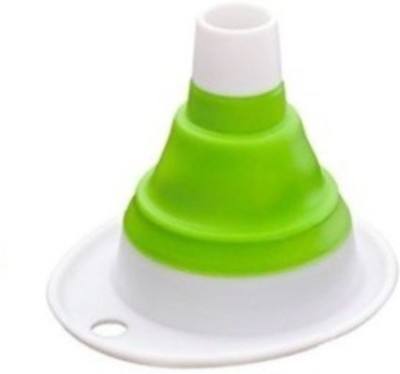 Istore Collapsible And Easy to Store Silicone Plastic Funnel
