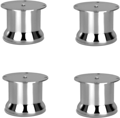 Renu SOFA LEG HARDWARE ROUND 65MM STAINLESS STEEL 202 (4 PCS.) SIZE 8 INCH Fixed Furniture Caster(Pack of4)