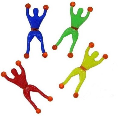 Coolplay AMATY29 Sticky Spiderman, Wall Climbing Fun Gag Toy(Red, Blue, Yellow, Green)