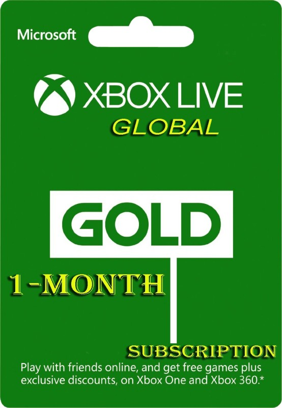 Xbox Live 1 Month GOLD Subscription Card ( for Xbox One( )
