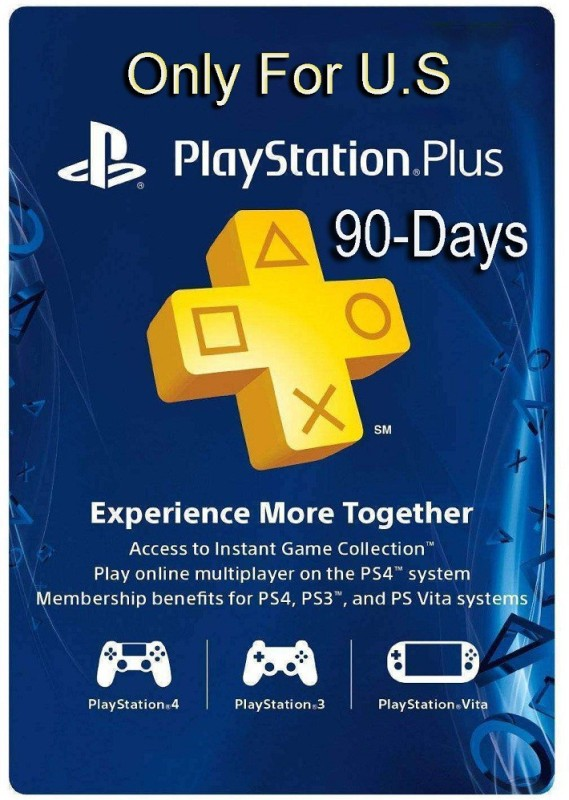 Playstation Plus 90 Days PSN CARD US (US Account Only) for PS4( )