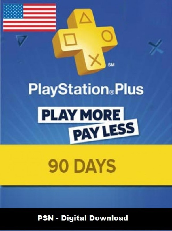 Playstation Plus 90 Days PSN CARD US for PC( )