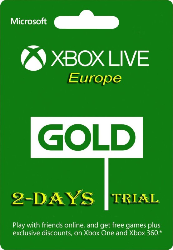 Xbox Live Gold 2 Days Trial Code (EU Account Only ) for Xbox One( )