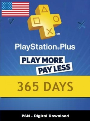 Playstation Plus 365 Days PSN CARD US for PC