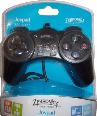 Zebronics ZEB-50JP Joypad  Gamepad(Black, For PC)