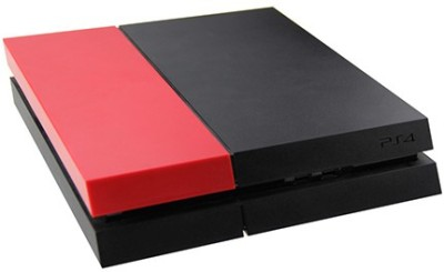 Hytech Plus Red Matte Finish Hard Disk Cover Replacement for PS4 Console  Gaming Accessory Kit