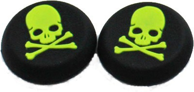 Hytech Plus Green Skull Theme Thumb Grips  Gaming Accessory Kit