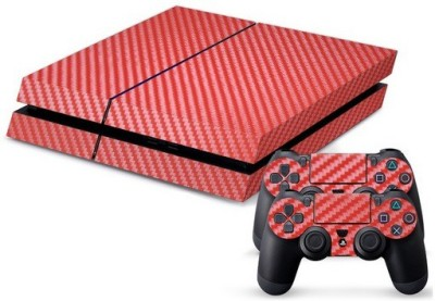 Hytech Plus Red Carbon Fiber Skin Sticker Cover For Console And Controller  Gaming Accessory Kit