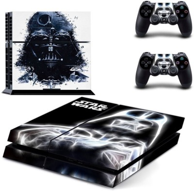 Hytech Plus Hytech Plus Star Wars Black And White Retro Theme Skin Sticker Cover for PS4 and 2 Controllers  Gaming Accessory Kit