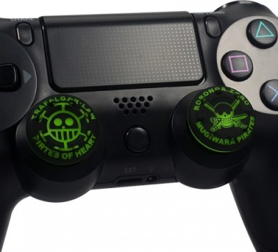 Hytech Plus Green Pirates Designer Series Thumb Grip  Gaming Accessory Kit