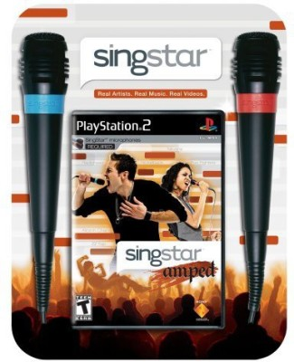 Sony SingStar Amped Bundle (Includes 2 Microphones) - PlayStation 2  Gaming Accessory Kit(Multicolor, For PS2)