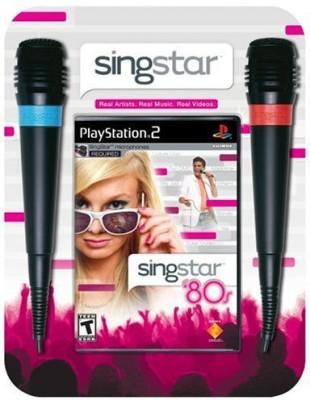 Sony SingStar 80's Bundle (Includes 2 Microphones) - PlayStation 2  Gaming Accessory Kit(Multicolor, For PS2)