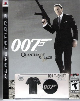 James Bond James Bond 007 Quantum of Solice with Limited Edition 007 T-Shirt (PS3)  Gaming Accessory Kit