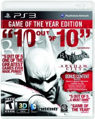Warner Bros Batman: Arkham City - Game of the Year Edition, PS3  Gaming Accessory Kit(Multicolor, For PS3)