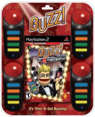 Sony BUZZ: The Hollywood Quiz Bundle - PlayStation 2  Gaming Accessory Kit