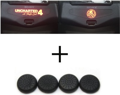 Al Pacino Uncharted 4 Dualshock 4 led light bar decal sticker & thumb grip combo set  Gaming Accessory Kit